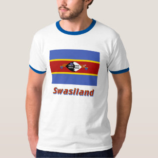 Swasiland Flagge mit Namen Tee Shirt