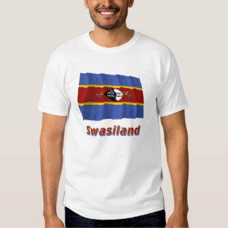 Swasiland Fliegende Flagge mit Namen T Shirt