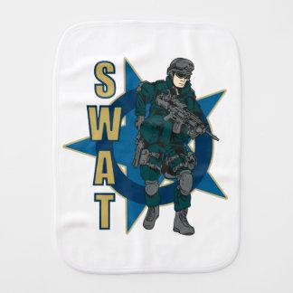 SWAT Police Officer Burp Cloths