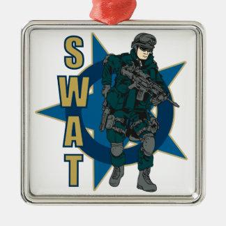 SWAT Police Officer Metal Ornament