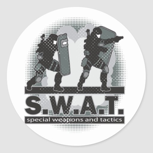 SWAT Team Entrance Stickers