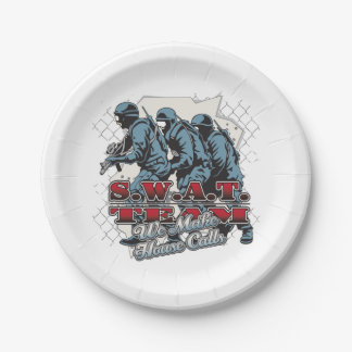 SWAT Team House Calls Paper Plate