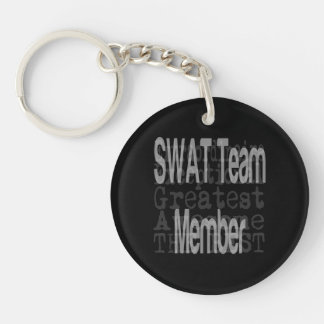 SWAT Team Member Extraordinaire Double-Sided Round Acrylic Key Ring