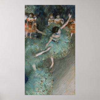 Swaying Dancer, Dancer in Green by Edgar Degas Poster