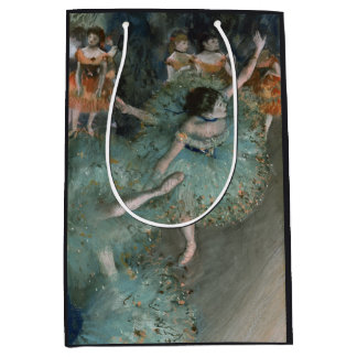 Swaying Dancer Dancer in Green Edgar Degas Medium Gift Bag