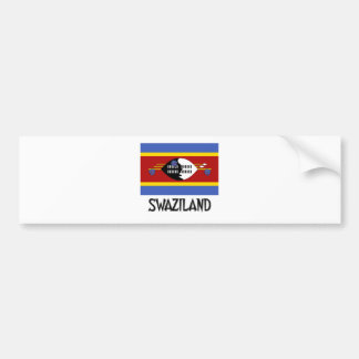 Swaziland Flag Bumper Stickers