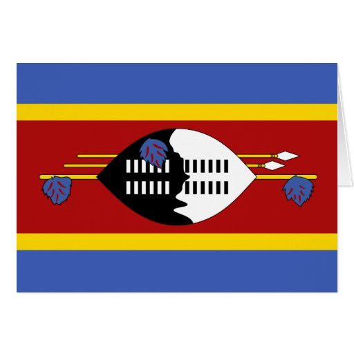 Swaziland Flag Greeting Cards
