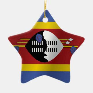 Swaziland flag ceramic ornament