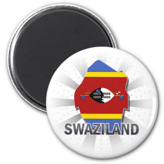 Swaziland Flag Map 2.0 Magnet