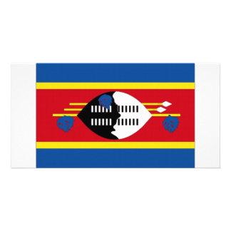 Swaziland National Flag Personalized Photo Card