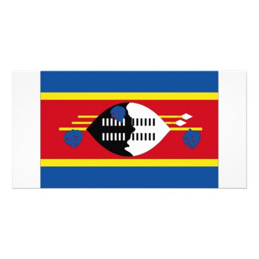 Swaziland National Flag Personalized Photo Card