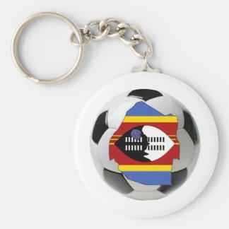 Swaziland national team basic round button key ring