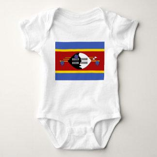 Swaziland National World Flag Baby Bodysuit