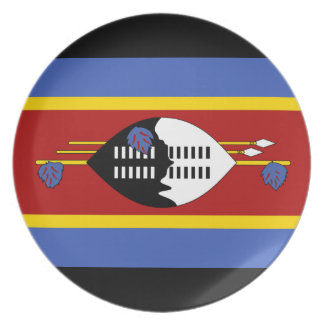 Swaziland National World Flag Plate