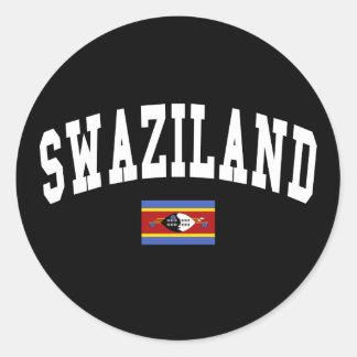 Swaziland Style Classic Round Sticker