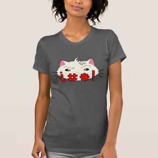 Swear Cat! - Cream colored cat t-shirt