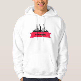 Sweat A Hood White Man New York Hoodie