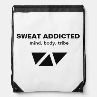 Sweat Addicted Drawstring Drawstring Bag