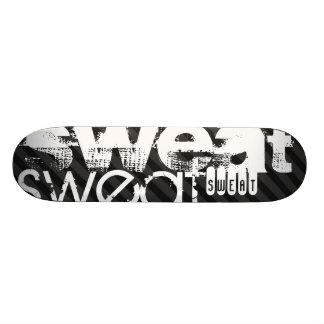 Sweat; Black & Dark Gray Stripes 21.6 Cm Old School Skateboard Deck