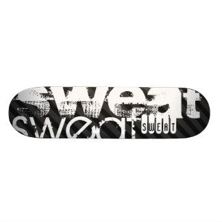 Sweat; Black & Dark Gray Stripes Skateboard Deck