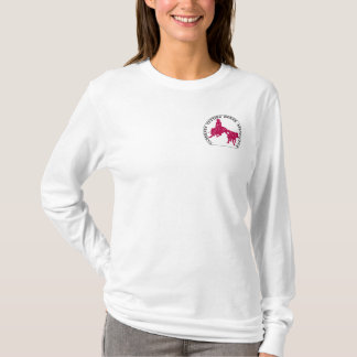Sweat Cabernet CHA Femme Blanc Capuche Rose T-Shirt