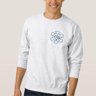 Sweat gray flake Christmas Sweatshirt