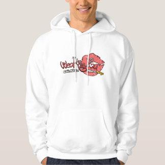 Sweat Hood - 1 Logo - White Hoodie
