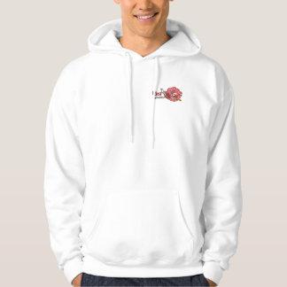 Sweat Hood - 2 Logos - White Hoodie
