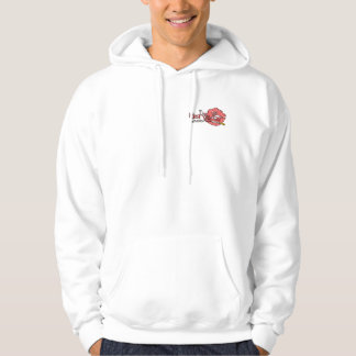 Sweat Hood - 2 Logos - White Hoodies