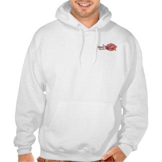 Sweat Hood - 2 Logos - White
