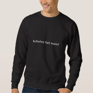 Sweat inscription in front of and back sweatshirt