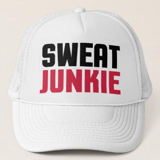 Sweat Junkie Gym Quote Trucker Hat