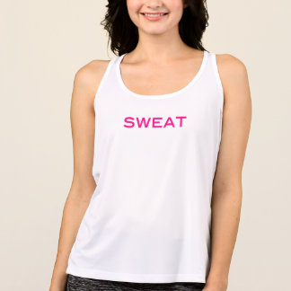 SWEAT Motivational Pink Athletic Shirt