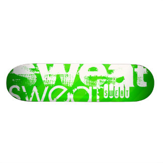 Sweat; Neon Green Stripes Skateboard Decks