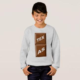 SWEAT SHIRT HANES ASHES TEXAS   CHOCOLATE