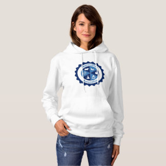 Sweat with basic hood - Blue NormaDoc Logo Hoodie