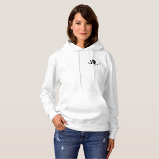 Sweat with basic hood for woman, White INL Hoodie