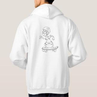 Sweat with hood logo and alien white skator hoodie