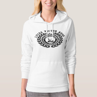 Sweat Woman White black logo LVH Hoodie