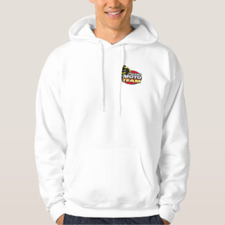 Sweater has hood