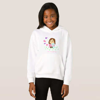 Sweater shirt with Cathy hood and the Cat and