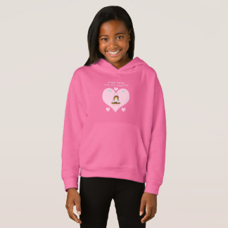 "Sweater shirt with hood for girl ""Beautiful Life """