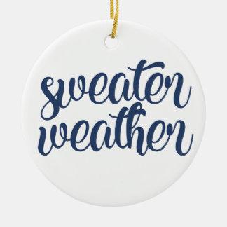 Sweater Weather Ceramic Ornament
