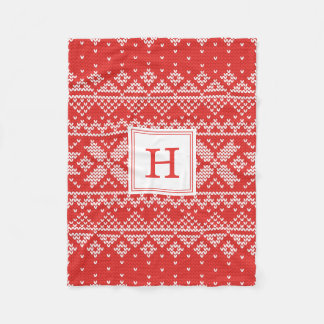 Sweater Weather | Monogram Holiday Fleece Blanket