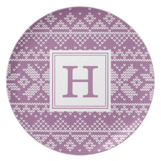 Sweater Weather   Monogram Holiday Plate