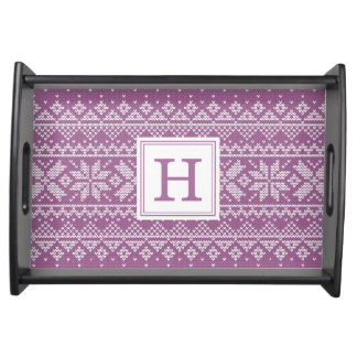 Sweater Weather | Monogram Holiday Serving Tray