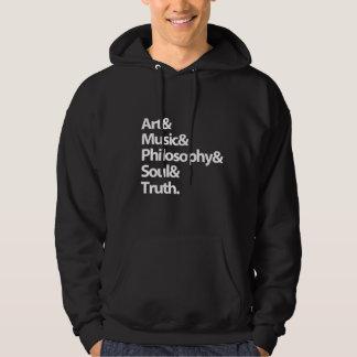 "SWEATERS MEN ""music, philosophy....."" Sweatshirt"