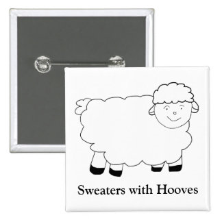 Sweaters With Hooves 15 Cm Square Badge