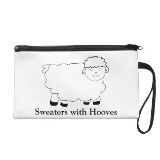 Sweaters With Hooves Wristlet Purses
