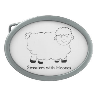 Sweaters With Hooves Belt Buckles